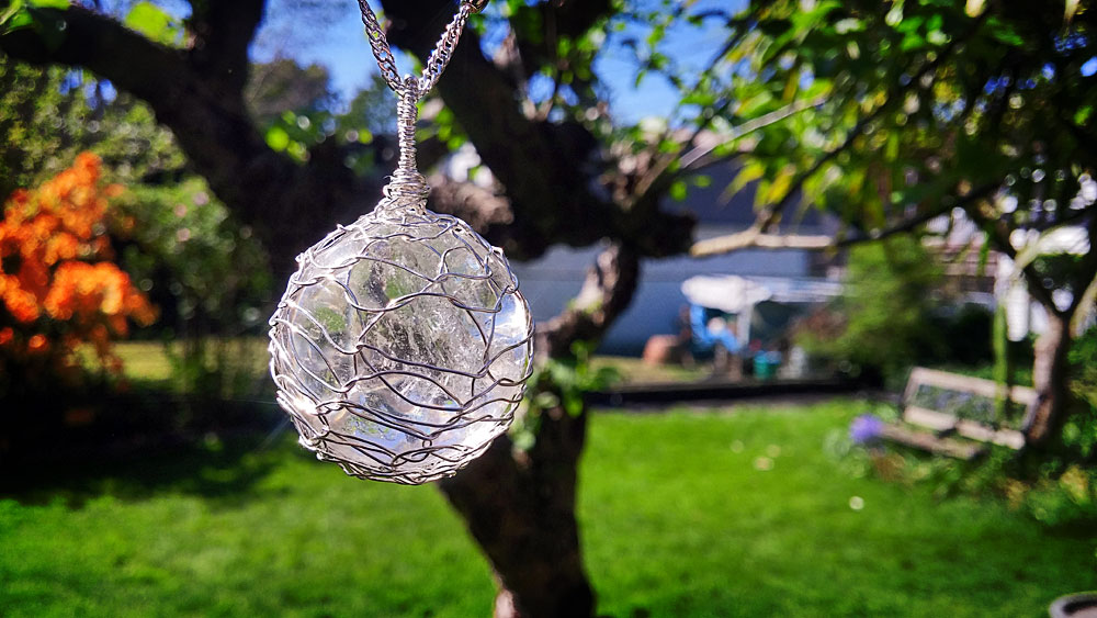 Silver Wire Wrapped Crystal Ball